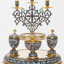 Enamel Five Loaves Blessing Tray -- LG11F