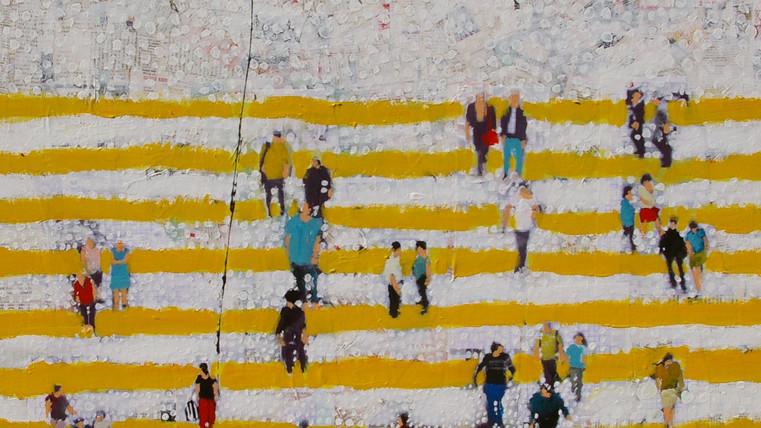 rayures en jaune