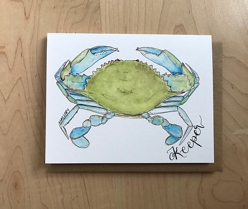 Keeper Blue Crab Everyday Card