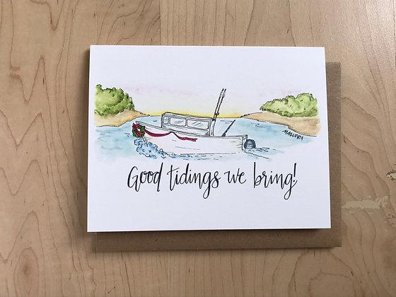 Good Tidings Fishing Holiday Card