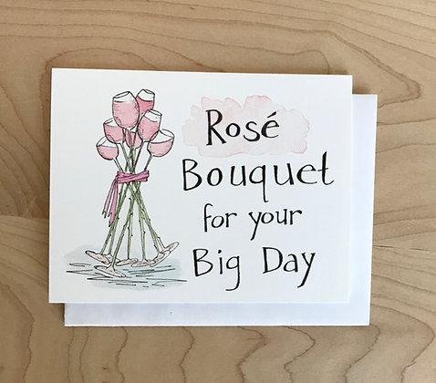 Rosé Bouquet Congratulations Card