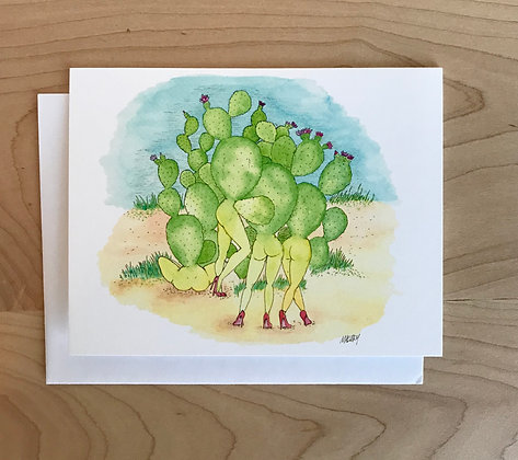 Prickly Ladies Greeting Card