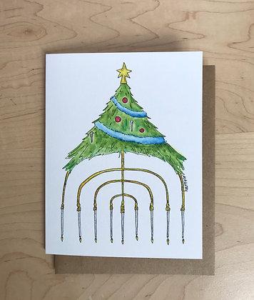 Blended Family Hanukkah and Christmas Card