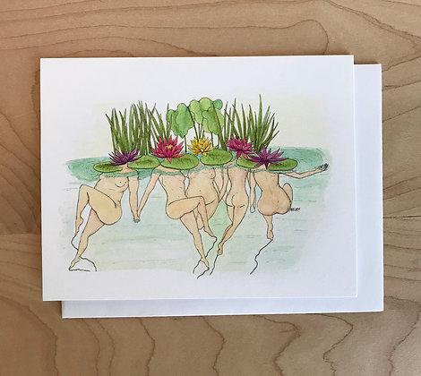 Lily Ladies Greeting Card
