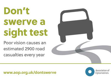 Don't swerve a sight test: be clear on the facts about vision and driving!