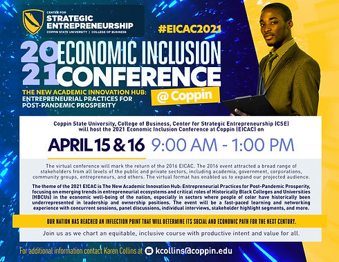 2021 Economic Inclusion conference flyer