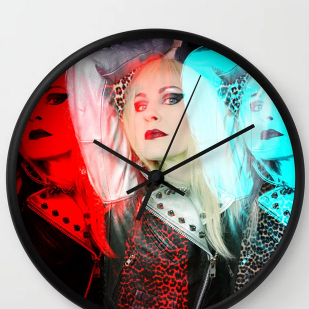 Blonde Pop Art Wall Clock