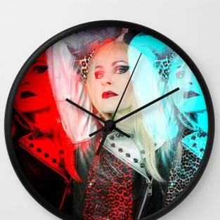 Blonde Pop Art Wall Clock