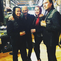 Punk Majesty Models with John Varvatos & Alisha Amnesia