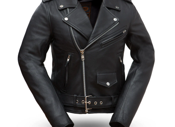 Women's Classic Leather Motorcycle (Higher Quality Cowhide)