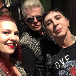 With Neal X and Marc Almond Backstage
