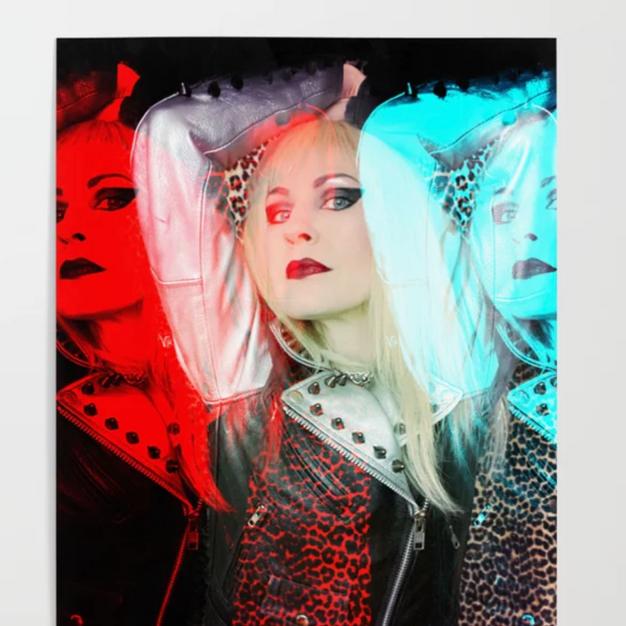 Blonde Pop Art Poster
