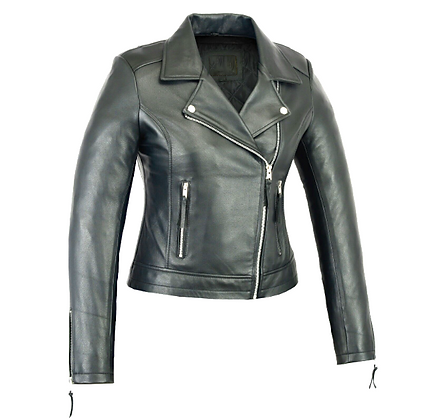 Women's Beltless Lightweight Sheep Leather Biker