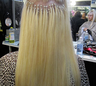 This Is What Microlink Hair Extensions Look Like During Application Process