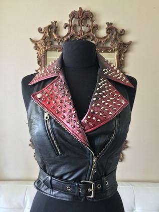 Custom Leather Moto Vest