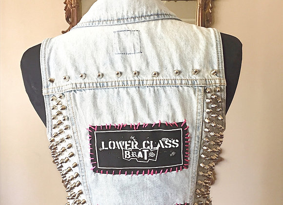 LAMF/ IGGY/LOWER CLASS BRATS/ DEAD BOYS VEST Size S