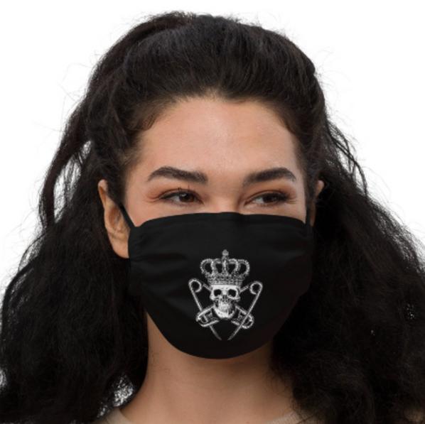 Punk Majesty Logo Pattern Mask