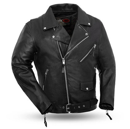 Men's Classic Motorcycle Jacket (Cowhide)
