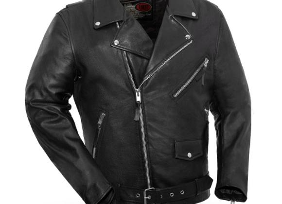 Men's Classic Motorcycle Jacket (Cowhide)