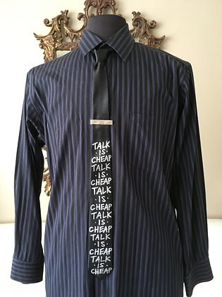 "TALK IS CHEAP 2"" Skinny Necktie"