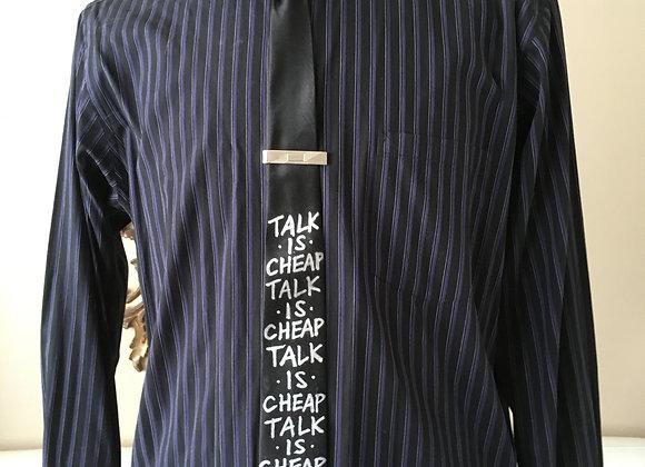 """TALK IS CHEAP 2"""" Skinny Necktie"""