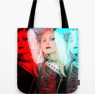 Blonde Pop Art Tote Bag