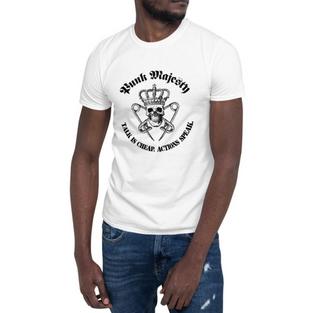 PM White Unisex T-Shirt, 100% Cotton