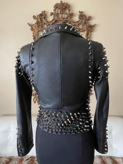 Studded Leather Lambskin Back