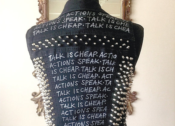 TALK IS CHEAP, ACTIONS SPEAK, Size S