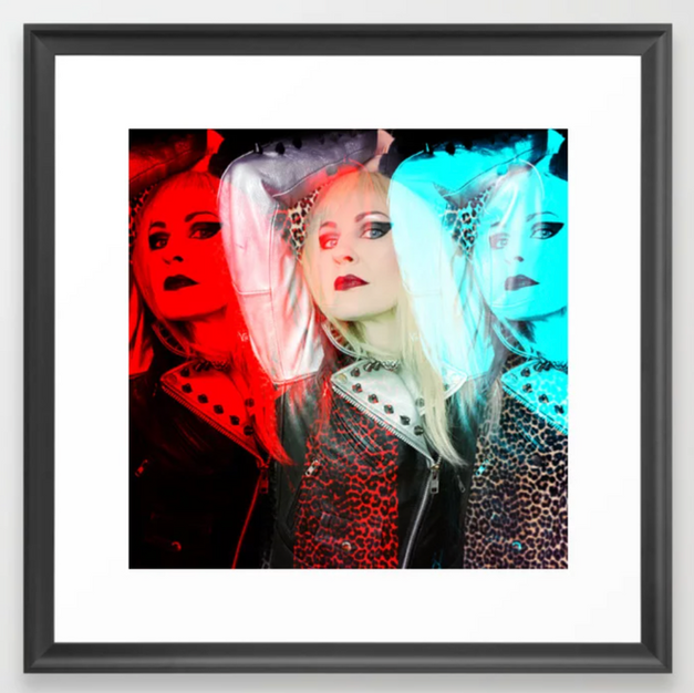 Blonde Pop Art Framed Art Print