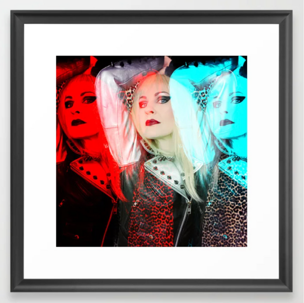 Blonde Pop Art Framed Art Print