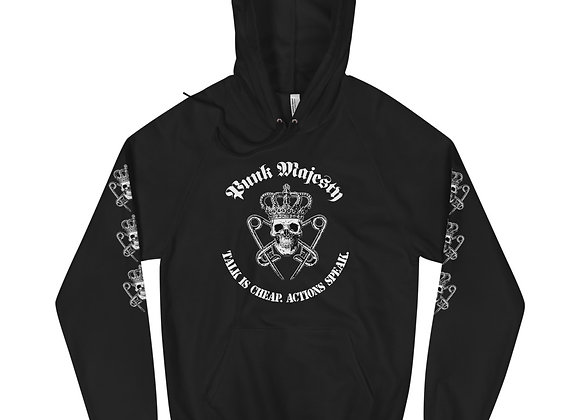 Printed Sleeves 100% Cotton Fleece XS-XL Unisex Hoodie