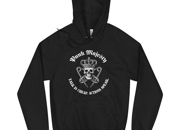 Fleece XS-XL Unisex Hoodie, 100% Cotton Punk Majesty Talk is Cheap