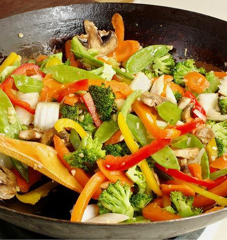 Wok de légumes & Poulet