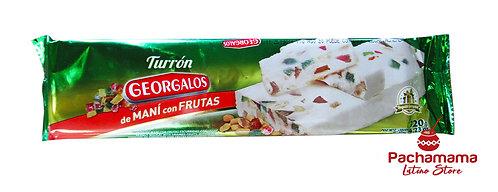 Turrón Georgalos with peanuts &fruits