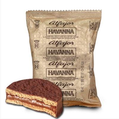Alfajor Havanna mini with chocolate and dulce de leche milk caramel