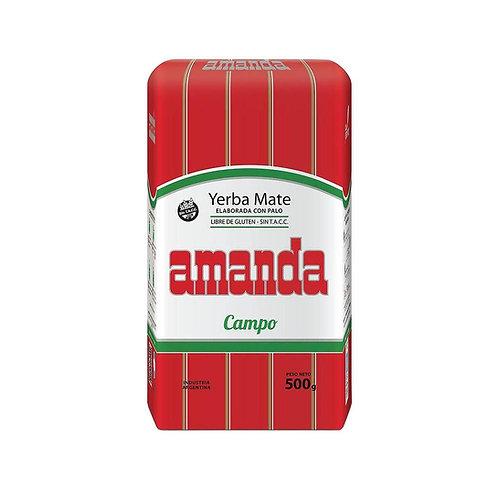 Yerba mate Amanda de campo with stems yerba con palo suave