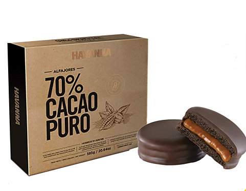 Alfajor Havanna covered in 70% pure chocolate cacao
