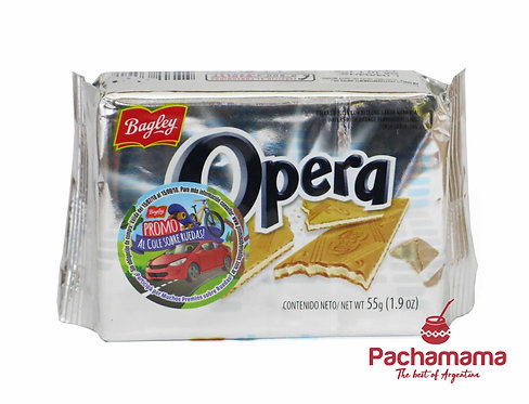 Galletitas opera, wafflers filled with lemon cream cookies from argentina available at Tienda Pachamama new Zealand