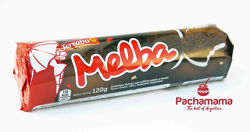 Galletitas melba, chocolate cookies filled with lemon cream from argentina available at Tienda Pachamama