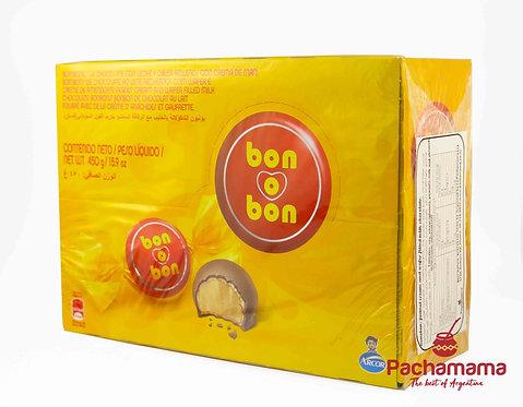 Box of bocadito bon o bon peanut butter bonbon from Argentina and Chile available at tienda Pachamama New Zealand