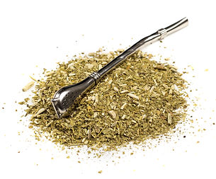 yerba mate loose leaves and bombilla straw