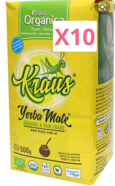 Kraus Organic yerba mate x10