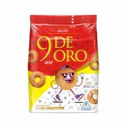 Vainilla cookies 9 de oro, galletitas de vainilla 9 de oro