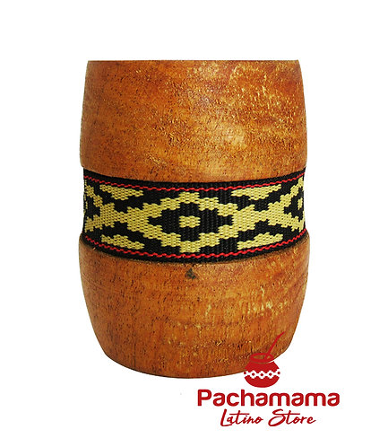 Wooden gourd with guarda pampa