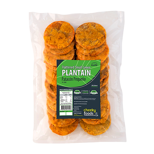 Smll green plantain patacon chico traditional colombian food
