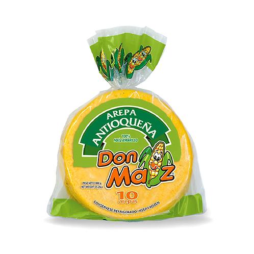 Yellow corn arepa antioquenia