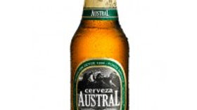 bottle of beer cerveza austral lager 300ml