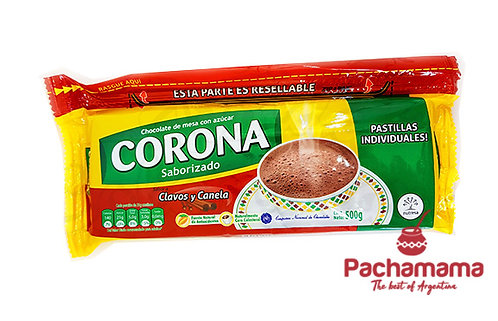 Corona chocolate with cloves and cinnamon