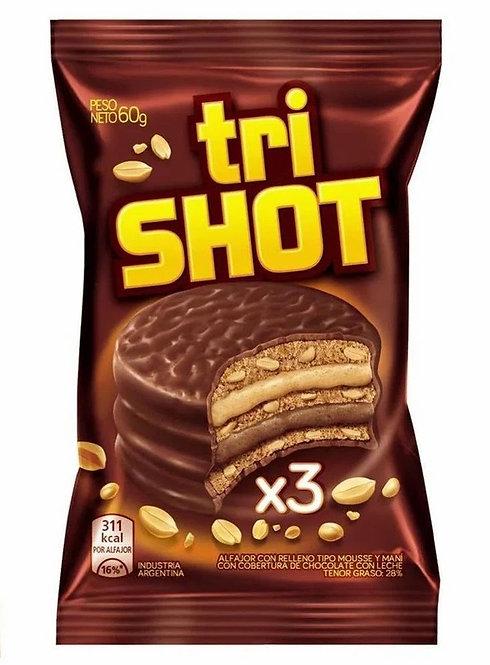 Alfajor trishot peanut butter & chocolate mousse 60g
